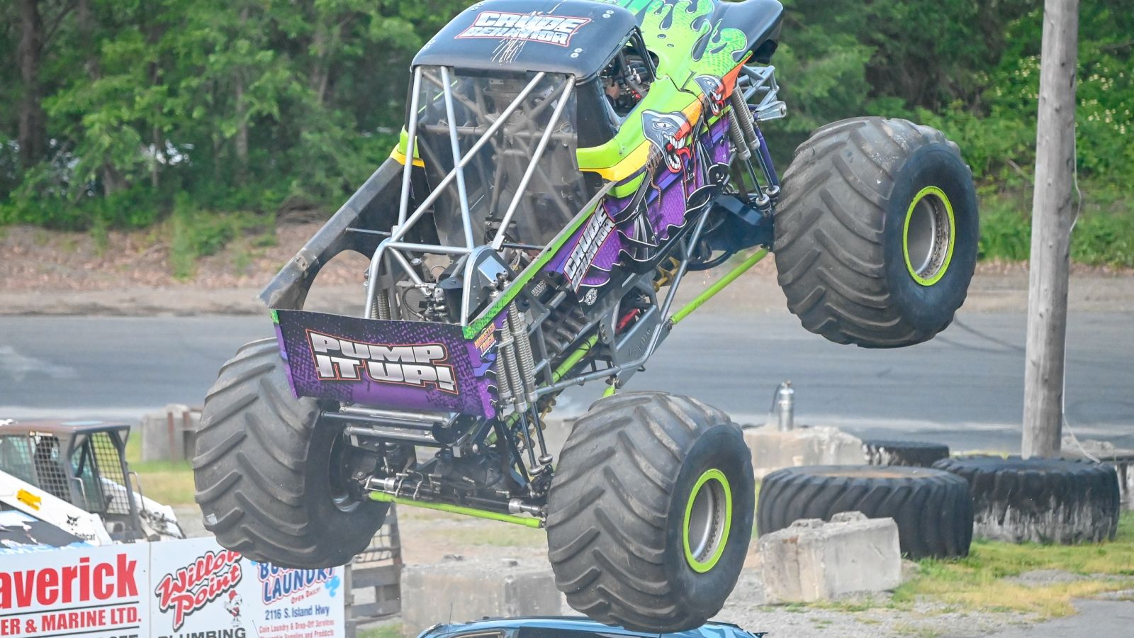 monster truck at Penticton Speedway