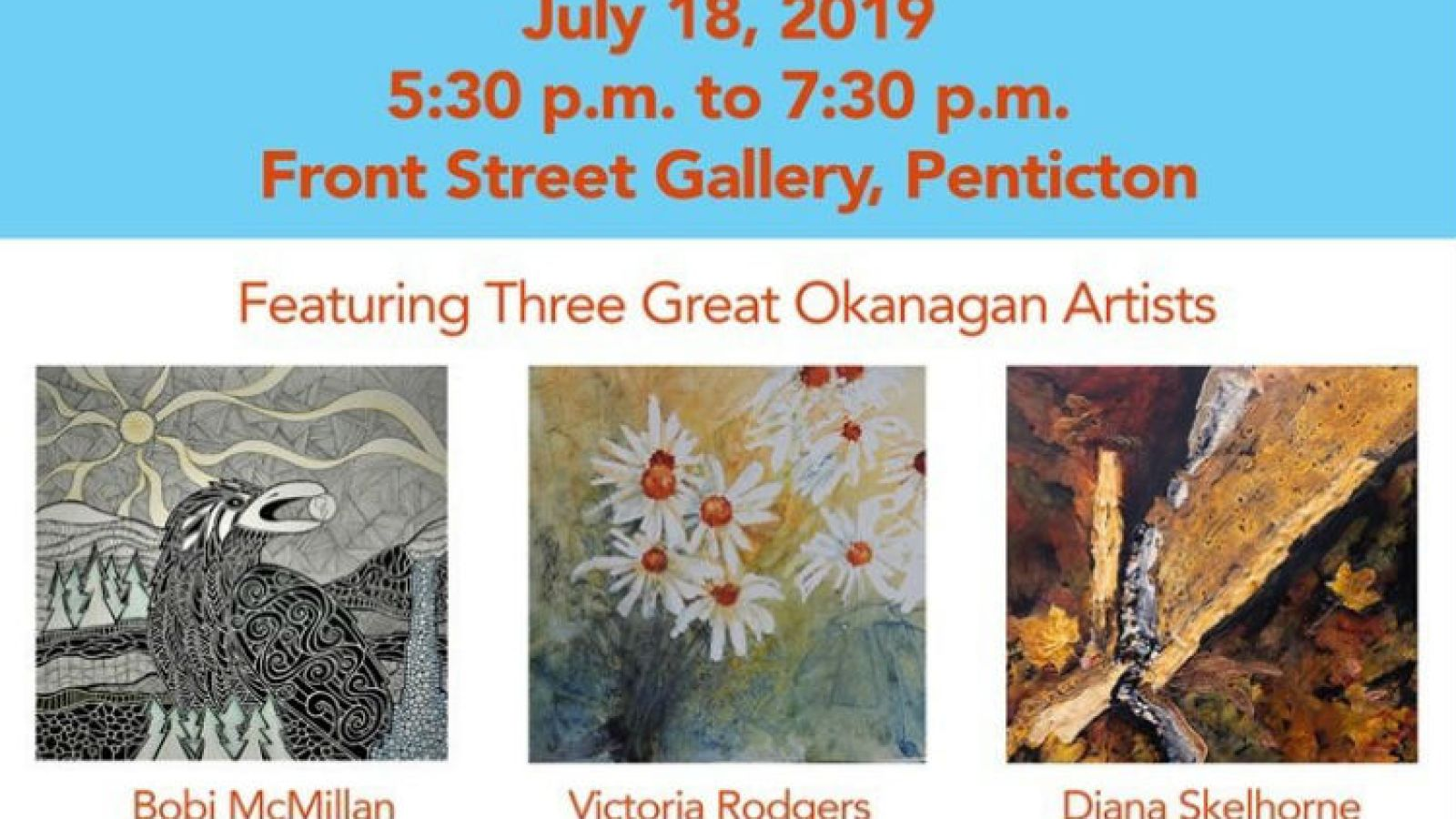 Front Street Gallery Group Exhibition opening reception event