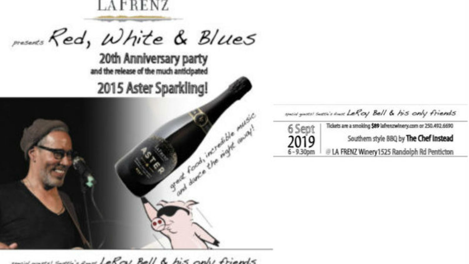 La Frenz Winery Red, White & Blues event