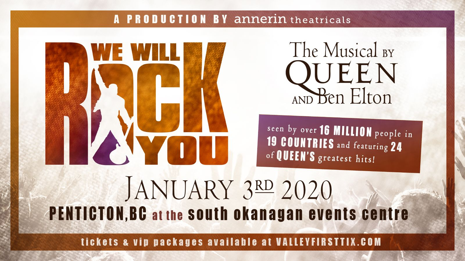 We Will Rock You event at the South Okanagan Events Cente