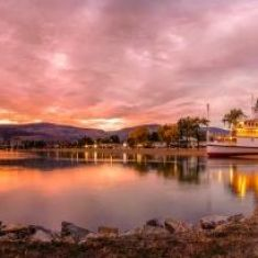 The SS Sicamous at Sunset