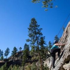 Getting vertical at Skaha Bluffs