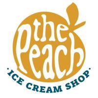 the peach ice cream logo
