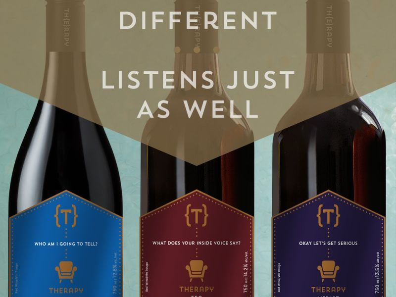 red wine labels