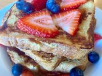 french toast with berries from Petrasek Bakery