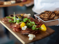 charcuterie board from Old Vines Restaurant at Quails Gate Winery