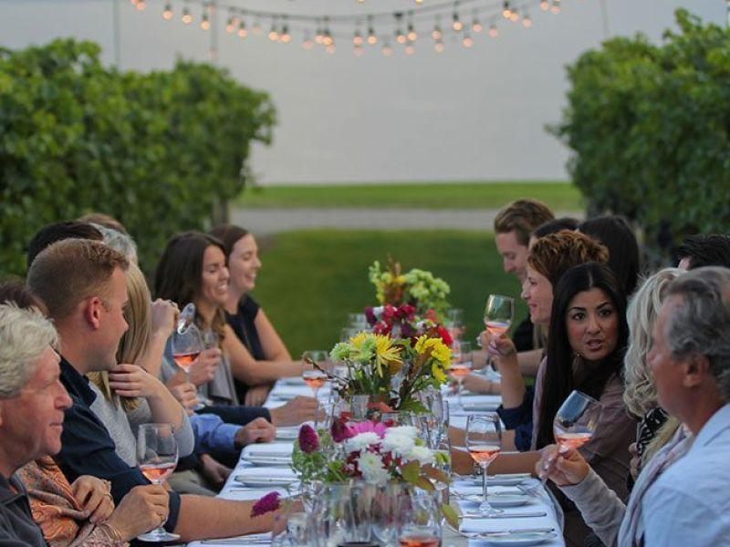 long table dinner at Quails Gate Winery