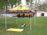 sea legs water bikes tent setup
