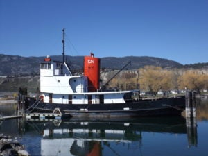 Tug Boat on the Lake - Okanagan Penticton - Part of Sicamous Museum and Park