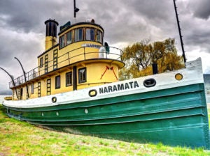 Naramata Tug Boat - Behind the Sicamous Museum - In the Heritage Park