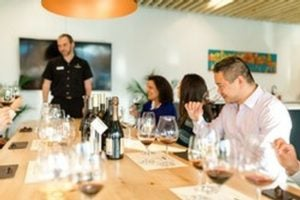 Group learning how to pair wine with food